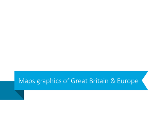 Maps graphics of Great Britain and Europe