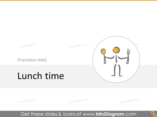 lunch transition slide section scribble icons powerpoint