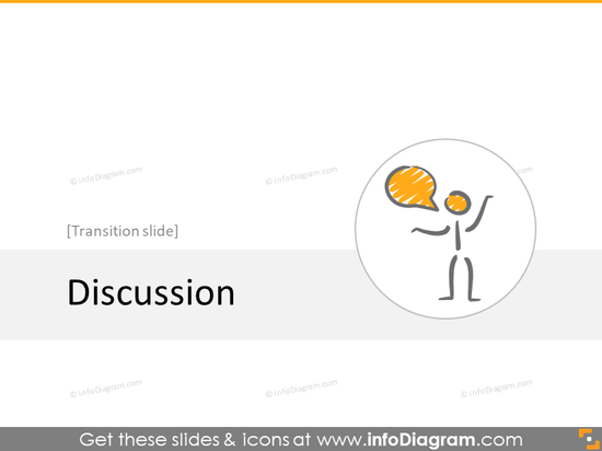 discussion transition slide section scribble icons powerpoint