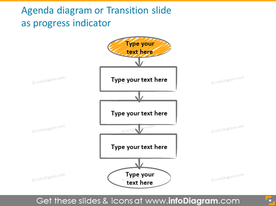 agenda diagram opening scribble sketch icons powerpoint