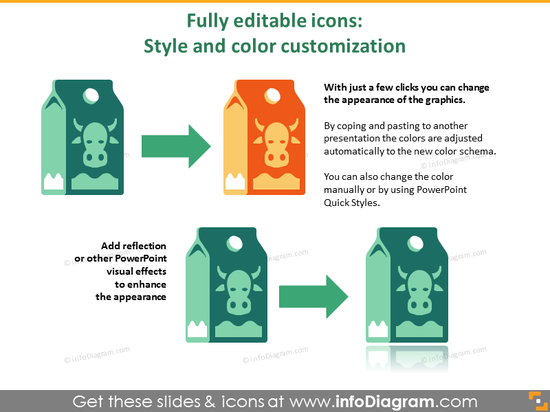 Fully editable icons