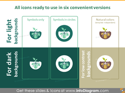 All fruit, vegetables and crop cultivation icons ready to use
