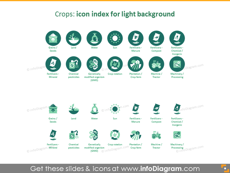 Crops icon index: light background