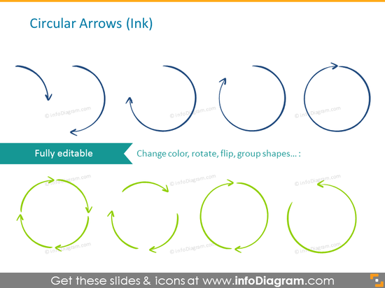 Ink circular arrows