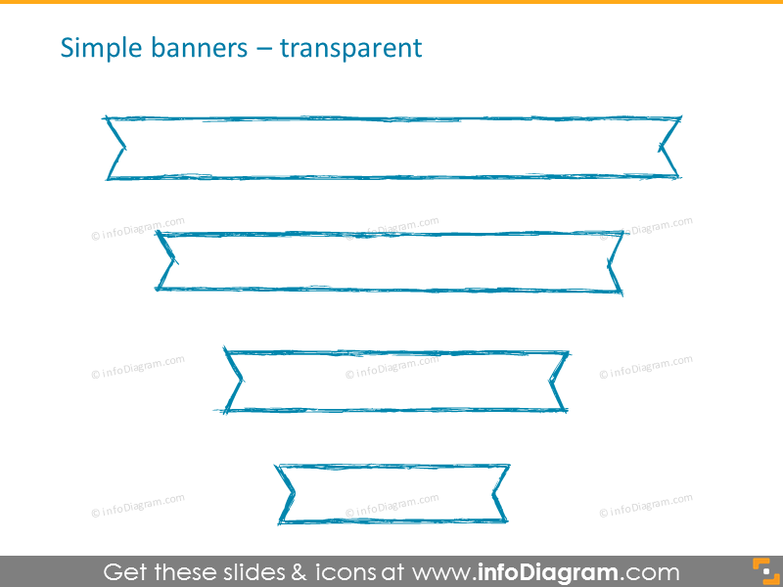Simple transparent banners