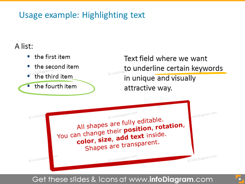 Example highlighting text