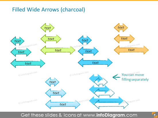 handdrawn flow diagram charcoal line style powerpoint