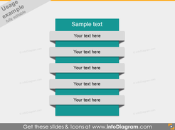 Text List Items Ribbons PowerPoint placeholder