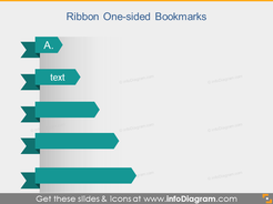 Ribbon Bookmark Metro Style Powerpoint Title Banner