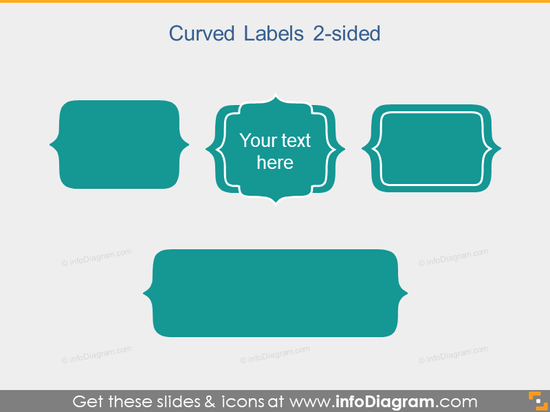 Curved Slide Label Flat PowerPoint Title Field