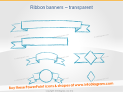Sketch Ribbon Banner Pencil PPT Infographics