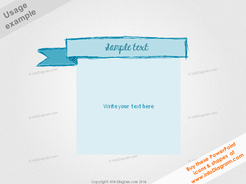 Retro Infographics Banner Template Sketch Pencil Ribbon PPT