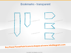 Pencil Bookmark Outline hand drawn ppt clip art