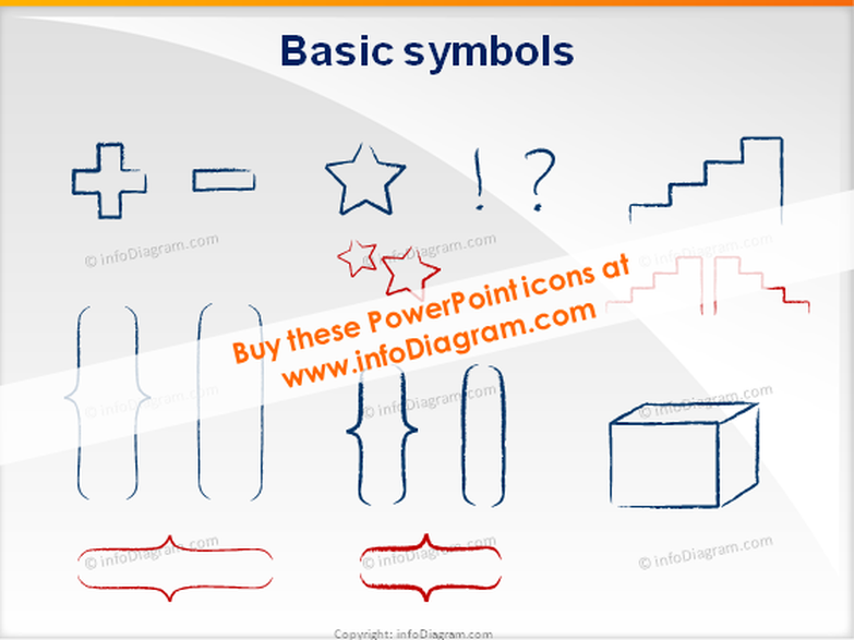 shapes brackets icons ppt clipart charcoal