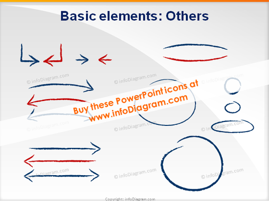 arrows icons ppt clipart charcoal