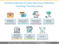 Overview Color Flat Icons Collection