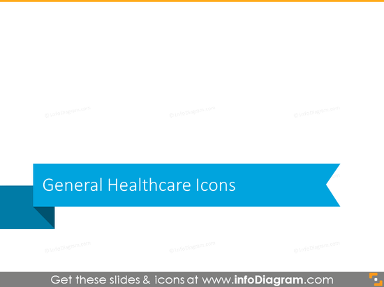 General healthcare icons set