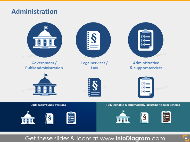 Public Administration Government Legal Law icon powerpoint