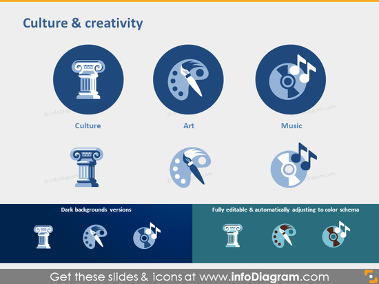 Culture Creativity Art Music symbol powerpoint clipart