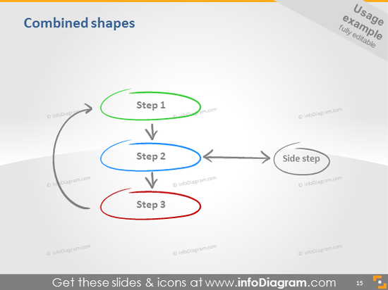 process phases ovals icons ppt clipart