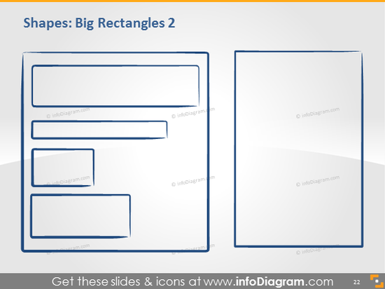 Big rectangle hand drawn doodle shape powerpoint