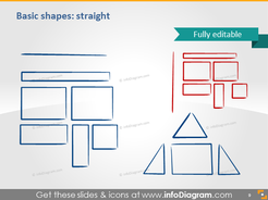 Shapes triangle rectangle icons ppt clipart