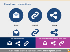ppt icons email sharing hyperlink metro clip art