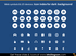 IT web actions devices icons PPTX dark blue background