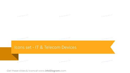 Icons set: IT and telecom devices