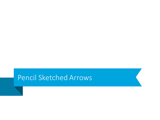 pencil sketch arrow icon set powerpoint graphics