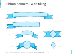sketch ribbon banner pencil powerpoint infographics