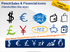 Pencil Sales and Financial Symbols (PPT icons & clipart)