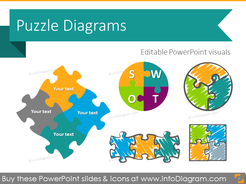 Puzzle toolbox for integrity diagrams (PPT clipart shapes)