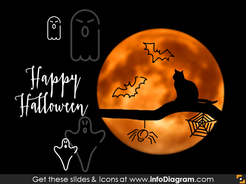 halloween bat spider icons powerpoint clipart