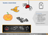 halloween ghost baloon scary dark white icons powerpoint