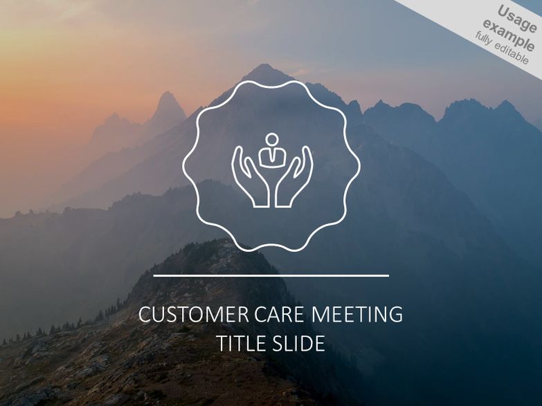 Customer care meeting headline slide