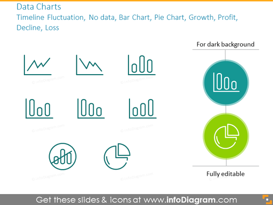Data chart outline symbols