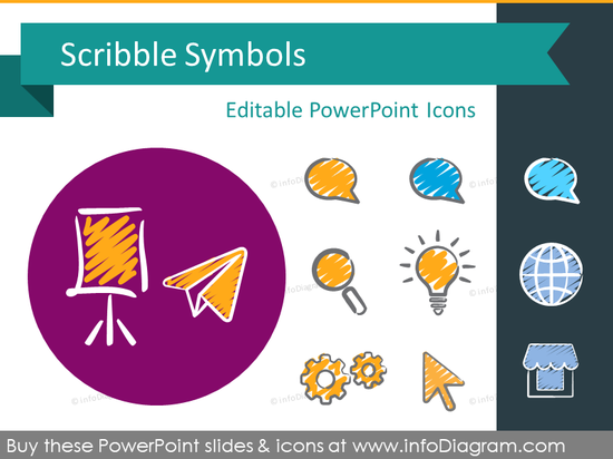 Scribble Symbols (PPT icons & clipart)