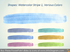 Water color Stripe Brush blue greeen Aquarelle pptx clipart