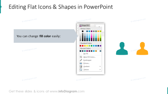 Editing flat icons and shapes