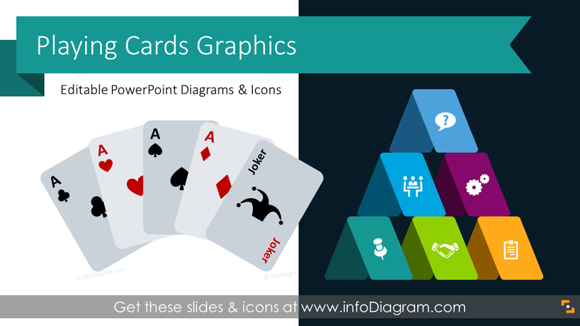 Playing Cards Presentation Graphics (PPT Template)