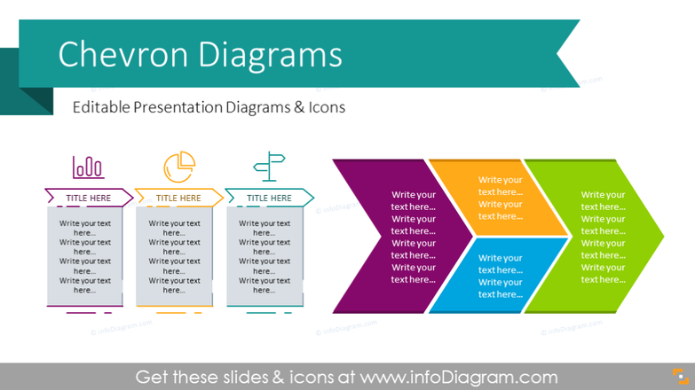 Chevron Timeline Diagrams Template (PPT graphics)