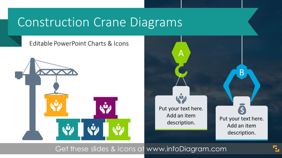 Construction Crane Presentation Graphics (PPT Template)