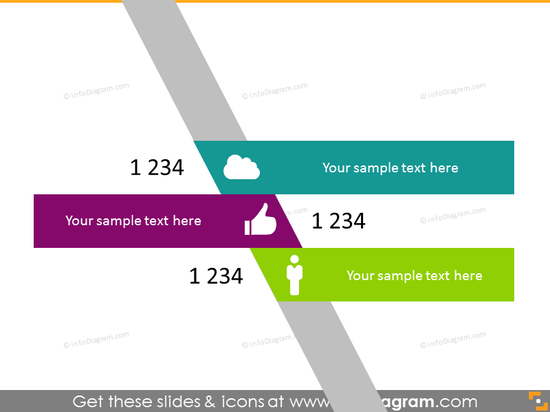 multicolor curve index schema powerpoint icons