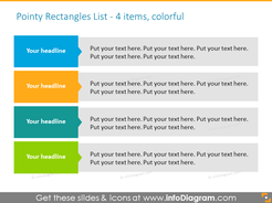 EditableInfographicTemplate for agenda with textboxes for  4 items