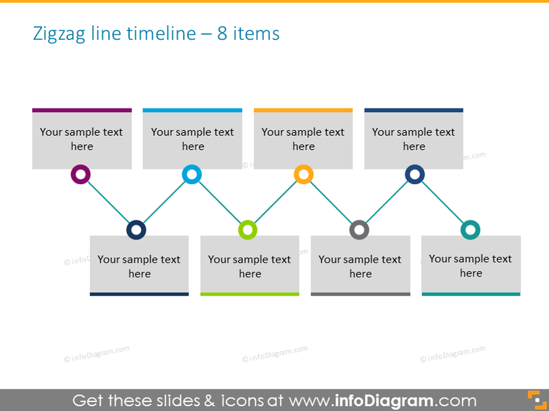 history timeline template 8 elements in line