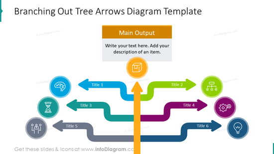 Branching out tree arrows diagram