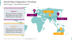 World map infographics template with Europe