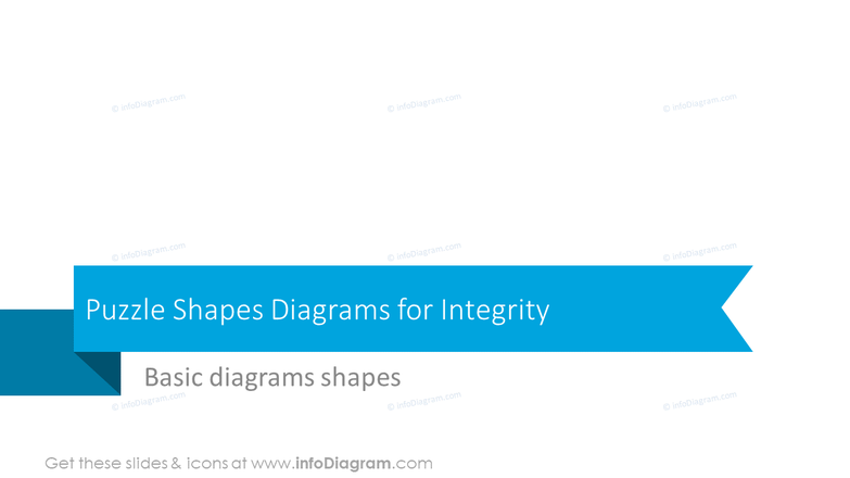 Puzzle shapes diagrams for integrity section slide