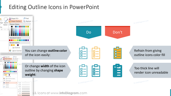 Editing Outline Icons in PowerPoint